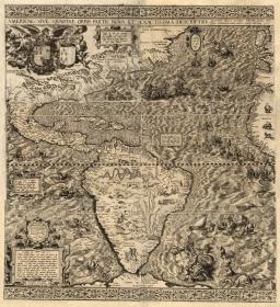Diego Gutiérrez, 1562, Americae Sive Quartae Orbis Partis Nova Et Exactissima Descriptio