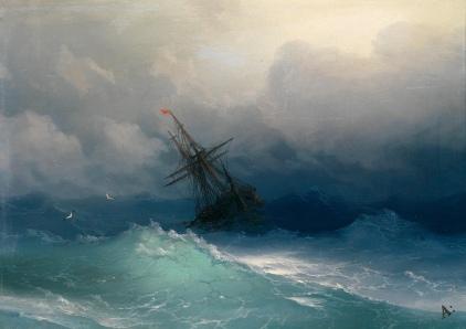 Ivan Konstantinovič Ajvazovskij, Nave nel mare in tempesta